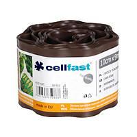 Газонный бордюр Cellfast 10 см 9 м коричневый N10702332