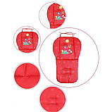 Дитячий матрацик вкладиш в коляску демісезонний. Вкладиш для стільчиків автокрісла. Матрац в дитячу коляску, фото 5