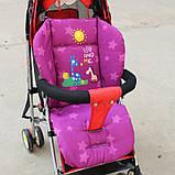 Дитячий матрацик вкладиш в коляску демісезонний. Вкладиш для стільчиків автокрісла. Матрац в дитячу коляску, фото 3
