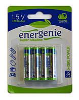 Батарейки 1.5V (AAA) LR03 Energenie, Super Alkaline, Упаковка 4 шт