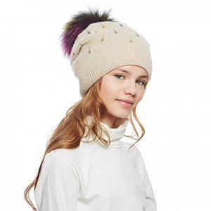 Детские зимние шапки для девочек оптом