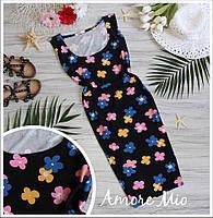 Женское платье из вискозы в цветочек