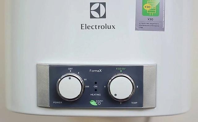 панель управления водонагревателя Electrolux EWH 100 Formax
