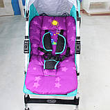 Дитячий матрацик вкладиш в коляску демісезонний. Вкладиш для стільчиків автокрісла. Матрац в дитячу коляску, фото 2