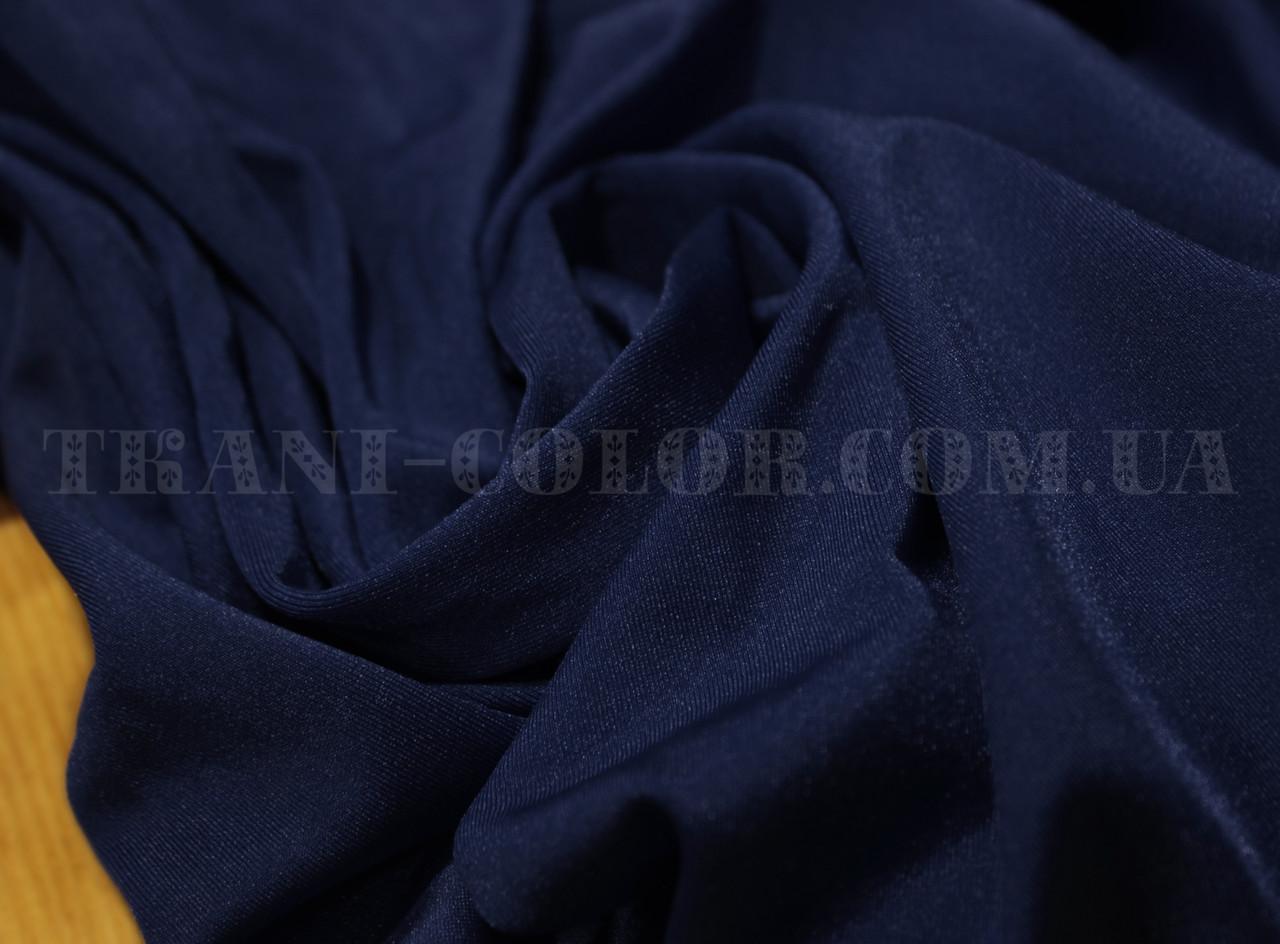 Ткань бифлекс блестящий темно-синий