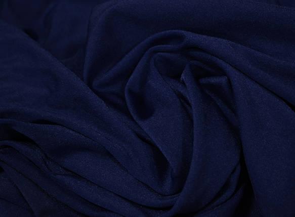 Ткань бифлекс блестящий темно-синий, фото 2