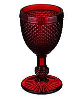 """Бокалы из цветного стекла """" Кубок"""" Рубин красный. Цветные бокалы, винтажные бокалы для вина"""