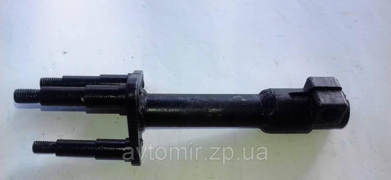 Вал руля (рулевого управления) заз 1102 1103 Таврия, Славута нижняя часть трезубец