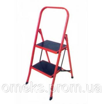 Стремянка металлическая FORTE LFD84TB - 2 ступ., высота 86 см, высота до верх. ступ. 45 см, вес 4 кг BPS