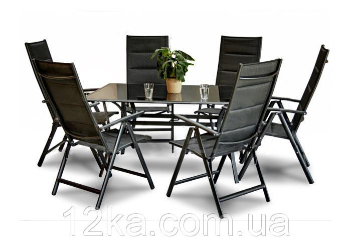 Садовая мебель 6+1  FURNIDE алюминий
