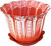 """Горшок для цветов пластиковый «Мадрид» с подставкой 1,3 литра """"ЧП КВВ"""""""