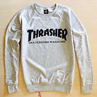 Thrasher свитшот • Реальные фото Бирки • Трешер серая толстовка