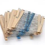 180 шт. Резисторы 0,25 Вт 18 номиналов ассорти кОм мОм, фото 3