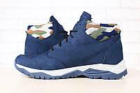 Мужские кожаные ботинки из натурального нубука