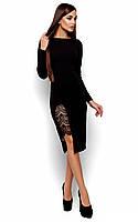 Витончене чорне вечірнє плаття-міді Koktell (S, M, L)