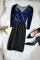 Платье с бархатным топом H&M