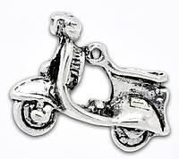 "3Д Подвеска "" Скутер "", 23 мм x 17 мм, Античное серебро,, фото 1"