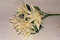 Искусственный букет травка с белыми шишками