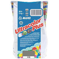Затирка Mapei Ultracolor Plus 113 серая 5 кг N60307226