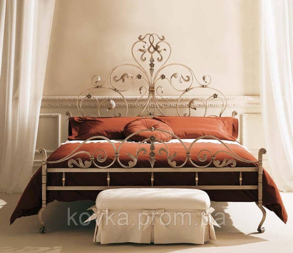 Кровать двухспальная кованая