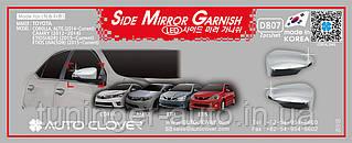 Хром накладки на зеркала Toyota Camry 2012-/Corolla 2014- (D807)