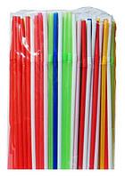 Трубочки с гофрой для напитков разноцветные