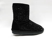 Зимние замшевые ботиночки на толстой подошве. Уги.