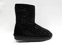 Зимние замшевые ботиночки на толстой подошве. Уги., фото 1