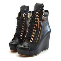 Сникерсы кожаные черные Y.S.