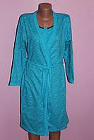 Комплект халат с начесом + ночнушка для кормящих грудью