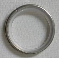 Кольцо тихое+крючок д. 16 мм, хром/мат