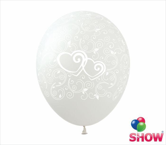 """Воздушные шары """"Узоры и сердечки на прозрачном"""" 12""""(30 см)  В упак: 100шт ТМ Арт «SHOW» UZ-3"""