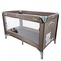 Детский манеж-кровать CARRELLO Uno CRL-7304 BROWN