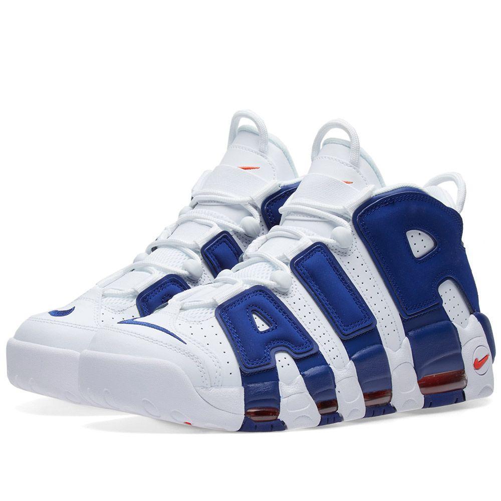 Оригинальные кроссовки Nike Air More Uptempo 96 White, Royal Blue