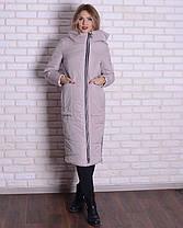 Длинная зимняя женская куртка , фото 2