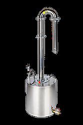 Аппарат-дистиллятор из нержавеющей стали Профи объем куба 20 литров