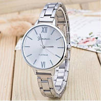 Женские часы серебристого цвета Geneva Platinum (105)