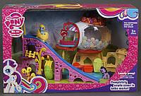 Игровой домик для пони My littel pony с горкой 729