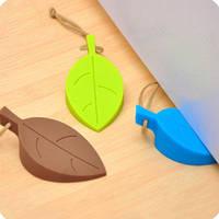 Стоппер дверной силиконовый Листик. Дверной ограничитель