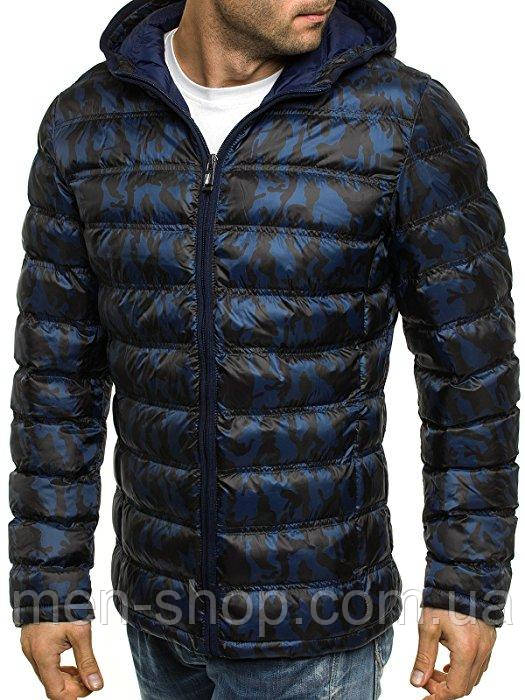 Куртка демисезонная темно-синяя куртка камуфляж
