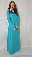 Платье женское в пол однотонное мятное и еще в 8-ми цветах макси Сукня жіноча максі