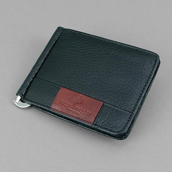 Купюрник зажим для денег на магните отделение для монет черный Rocco Barocco 5184