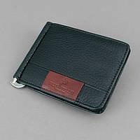 Купюрник зажим для денег на магните отделение для монет черный Rocco Barocco 5184, фото 1