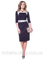 Черное платье в деловом стиле (XS, S)