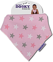 Нагрудник - бандана Dooky Dribble Bib Pink Stars НОВИНКА!