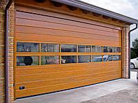 Панорамные секционные ворота серии AluTrend с комбинированным типом полотна (АЛПС)