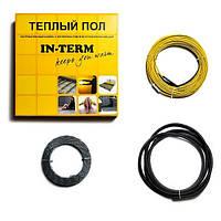 Двужильный  нагревательный кабель In-term 170 Вт  (пл. обогрева 1 0 м2  длина кабеля 8м)