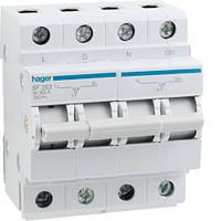 Переключатель ввода резерва I-0-II трехпозиционный 1P+N, 63 А, SF263 Hager