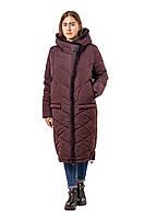 Длинная женская куртка, пуховик из плащевой ткани