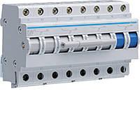 Переключатель ввода резерва I-0-II трехпозиционный 3P+N, 63 А, SF463 Hager